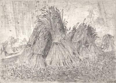 Arthur Streeton, 'Wheat Sheaves', ca. 1910