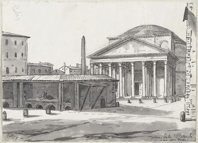 Jacques-Louis David, 'The Pantheon Seen from the Piazza', 1775/80