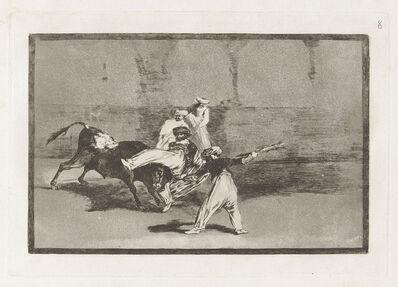 Francisco de Goya, 'Cogida de un moro estando en la plaza [A Moor Caught by the Bull in the Ring], plate 8', 1815-1816