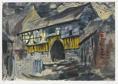 John Piper, 'Wigmore Abbey Gateway', 1981