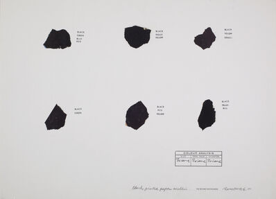 Osvaldo Romberg, 'Black Printed Paper Analysis', ca. 1976