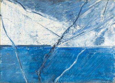 Claudio Olivieri, 'Spazio - Diagonali blu', 1962