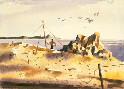 Hughie Lee-Smith, 'Untitled (Man on Shore)', 1956