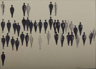 Renato Mambor, 'Stamp men', executed in 1963