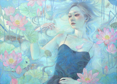 Miho Hirano, 'Flowers on the water surface', 2018