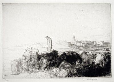 Edmund Blampied, 'Loading Vraic St. Malo', ca. 1926