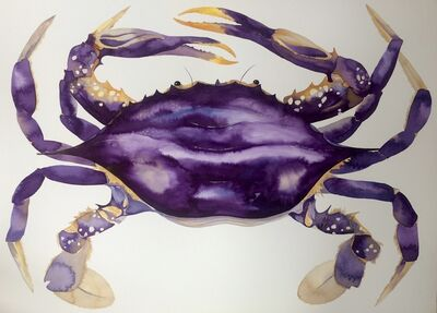 Idoline Duke, 'Big Purple Crab'
