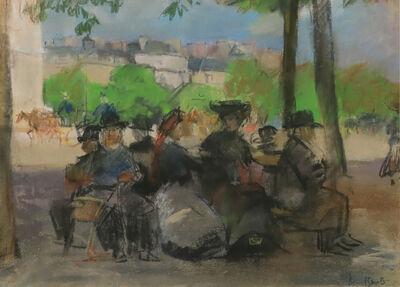 Isaac Israels, 'Figures in a Park, Paris', ca. 1908