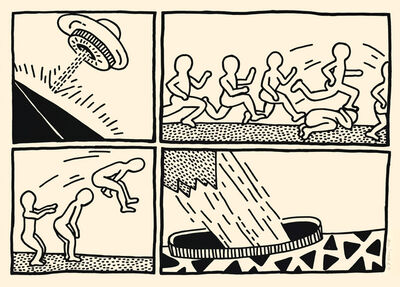 Keith Haring, 'THE BLUEPRINT DRAWINGS (#3) (L. P. 176)', 1990