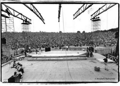 Amalie R. Rothschild, Jr., 'View of the Woodstock Festival from Backstage, August 15, 1969', 1969