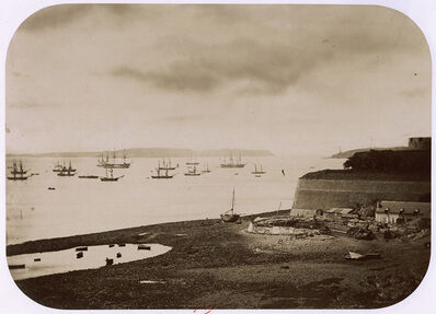 Charles Paul Furne, 'Ships in Harbor in Bretagne, France (Brest, la Rade)', 1857c/1857c
