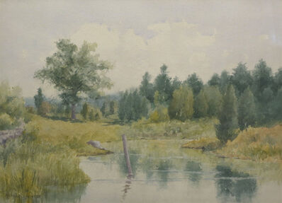 Marshall Jones, 'Post in the Creek', 19th Century