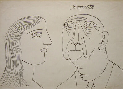 Francis Newton Souza, 'Untitled (Portrait of a Man and Woman)', 1958