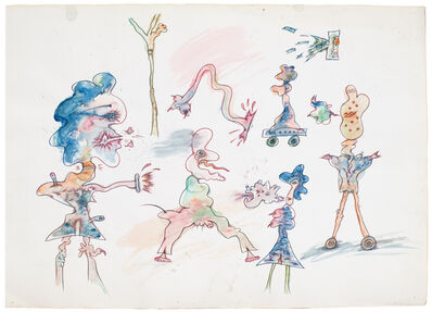 Jeff Keen, 'Untitled (Blue Character Sketch)', 1972