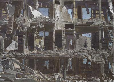 Erik Desmazières, 'La Bibliothèque dévastée, 2016', 2016