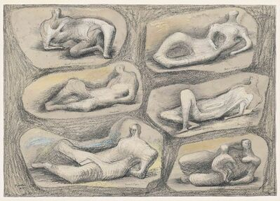 Henry Moore, 'Reclining Figures', 1943