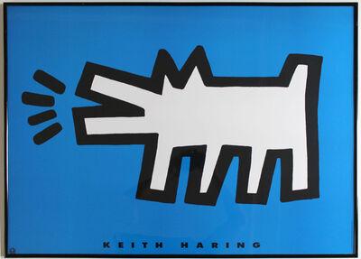 Keith Haring, 'Barking Dog Blue', 1994