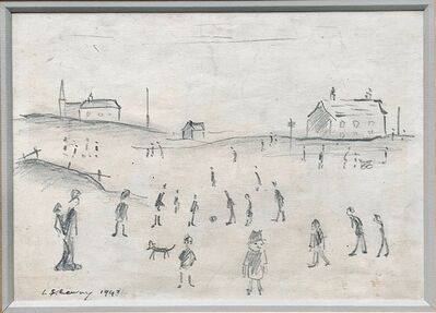 L.S. Lowry, 'Figures in a Park', 1943