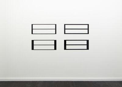 Douglas Allsop, 'Reflective Editor. Set of Four: Two Horizontal Rectangular Holes, Parallel Pattern, Horizontal Division', 2010