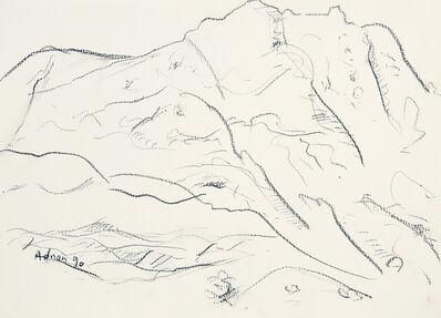 Etel Adnan, 'Montagne Sainte-Victoire 15', 1990