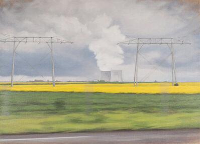 Jennifer Krause Chapeau, 'Power Lines and Cooling Towers', 2016