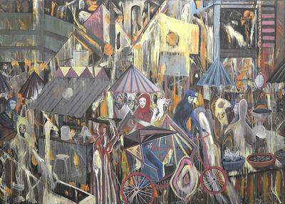 Rodel Tapaya, 'The Market Chaos - Loose Paintings Urban Labyrinth Series', 2018