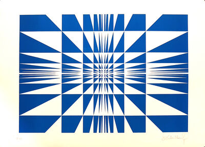 Victor Debach, 'Blue Composition', 1970s