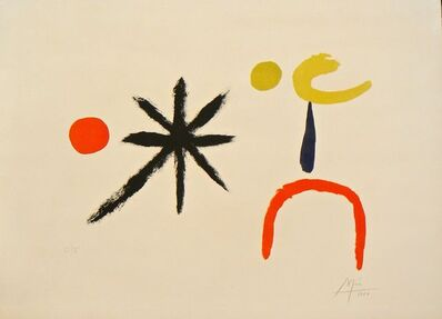 Joan Miró, 'Young Girl in the Moonlight ', 1951