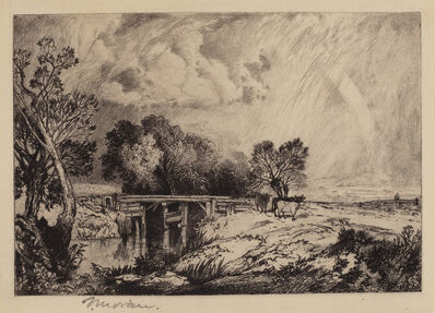 Thomas Moran, 'A Rustic Bridge', 1879