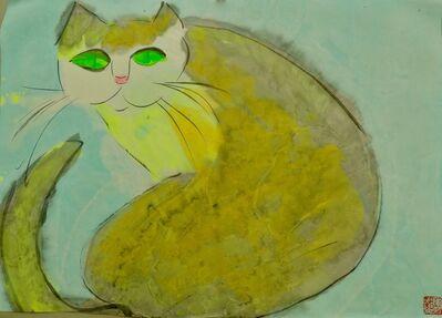Walasse Ting 丁雄泉, 'Cat', ca. 1989