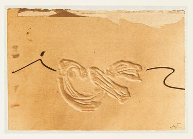 Antoni Tàpies, 'Embossed Sign', 1982