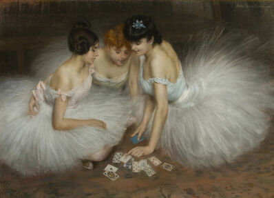Pierre Carrier-Belleuse, 'La partie de cartes', 1905