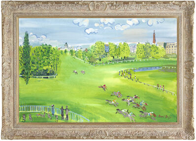 John Myatt, 'The Racecourse At Longchamps', 2011