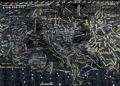 Paula Scher, 'Dark World', 2009