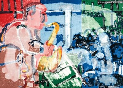 Romare Bearden, 'Stomp Time (Solo Player)', 1979