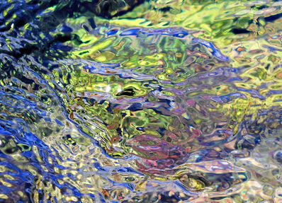 Larry Garmezy, 'Flow State #2 - Abstract / Impressionist Waterscape photography, Rocky Mountain, natural abstraction, water in blue and green', 2017
