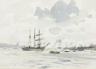 Edward Seago, 'The Barquentine Gazela on the Tagus'