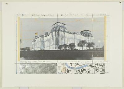 Christo, 'Wrapped Reichstag, Project for Berlin', 1995