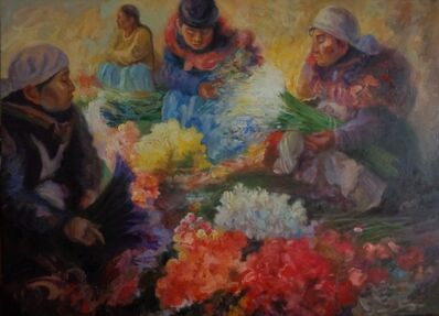 Benjamín Lafuente, 'Flower vendors', 2017