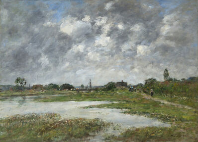 Eugène Boudin, 'La Touque à Trouville', 1890
