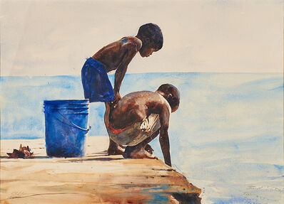 Stephen Scott Young, 'First Study, Fishing, Bahamas'