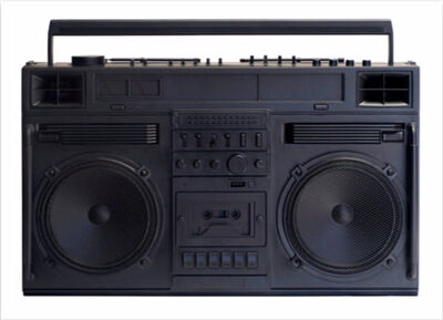 Lyle Owerko, 'Boombox Sculpture series size D (Black)', 2019