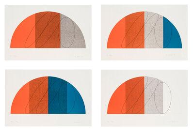 Robert Mangold (b.1937), 'Semi Circle I, II, III, & IV', 1985