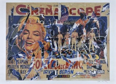 Mimmo Rotella, 'Cinemascope', 2000