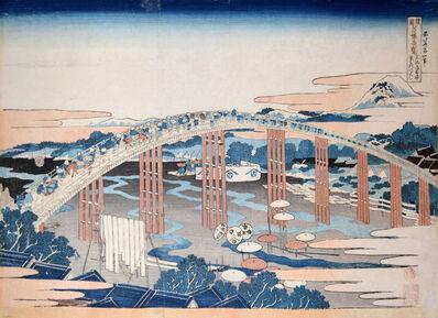 Katsushika Hokusai, 'Yahagi Bridge at Okazaki ', ca. 1834