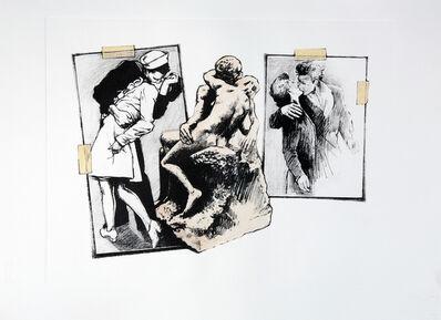 Jonathan Santlofer, 'Kiss (Times Square Rodin)', 2009