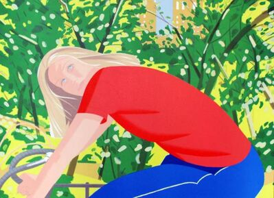 Alex Katz, 'Bicycling in Central Park', 1983