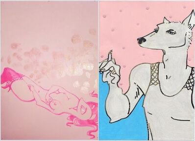 Itziar Bilbao Urrutia, 'Pink Voyeur Diptych', 2000
