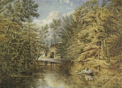 William Rickarby Miller, 'Boating on the Old Croton Reservoir, NY', 1851