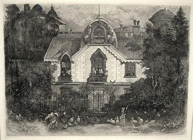 Rodolphe Bresdin, 'La Maison Enchantée, (Enchanted House)', 1871